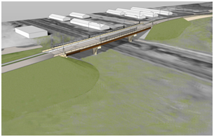Rendering of vehicular viaduct at Third Avenue